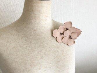 紫陽花コサージュ (ナチュラル)の画像