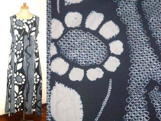 Sold Out浴衣リメイク♪有松総絞り向日葵が素敵な浴衣チュニックワンピース♪イレギュラーヘム♪ハンドメイド・初夏・コットンの画像