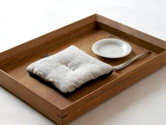 Pot Mat [霜]ウール/リネンの画像