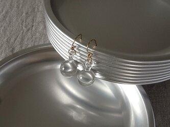 【K14gf】・しずくピアス・ガラス製の画像