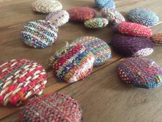 ◾︎SALE◾︎ 手織り くるみボタン アソート5個の画像