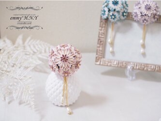 tsumami簪 NADESHIKO-dusty pink-の画像