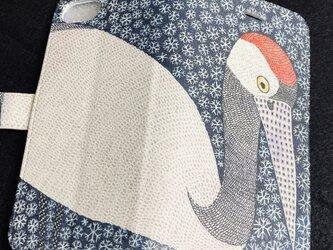 手帳型iPhoneケース/スマホケース/タンチョウヅルの画像