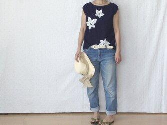 袖口ゴムのフレンチスリーブプルオーバーの画像