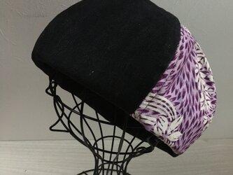 TOPI 着物リメイクのベレー帽(藤色58)の画像