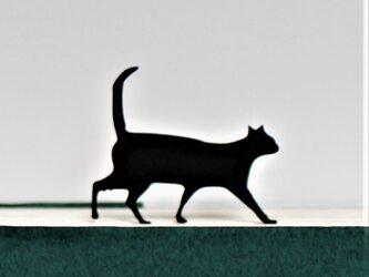 黒猫のしおり,ブックマーク [横歩き] (読書,本,プレゼント,母の日,CAT,BOOKMARK)の画像
