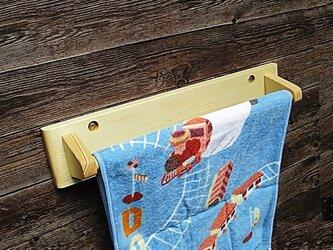 木製タオル掛け(ナチュラル艶無し)の画像