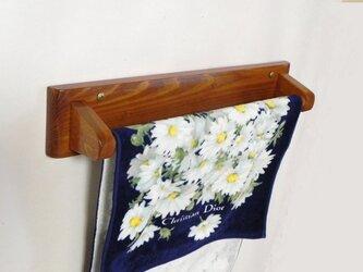 木製タオル掛け(オーク色)の画像
