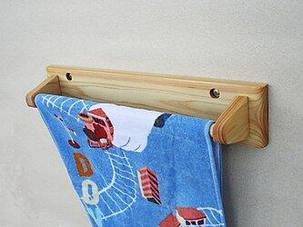 ひのき製タオル掛け(クルミオイル仕上げ)の画像