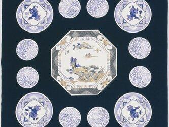 風呂敷  包み 木綿 ふろしき  額取絵皿 京都 綿100% 105cm幅 贈り物の画像