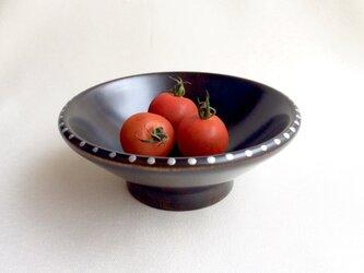 黒摺り漆の小鉢〈銀ドット〉漆器の画像