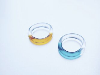 Colored simple Ring / AM / GR / BKの画像