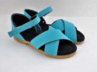 【受注製作】ROUND cross sandalsの画像
