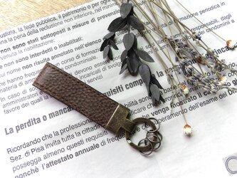 イタリア革のキーホルダー/ショコラブラウンの画像