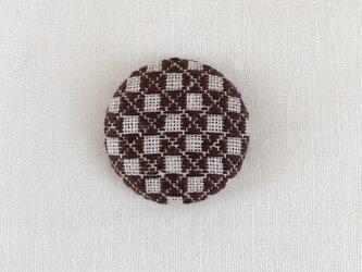 こぎん刺しの帯留め〈石畳〉3.8cmの画像