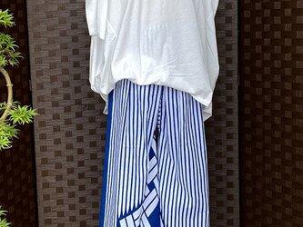 0002セミオーダー 着物リメイク 浴衣をワイドパンツにリメイク  kimono   *製作見本   *布地を別途お選び下さいの画像