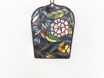 コキンチョウの壁掛けランプの画像