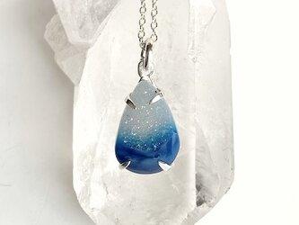 結晶メノウ・ネックレス(ブルー・グラデーション)の画像
