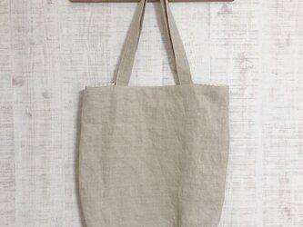 数量限定販売「シンプルリネンバッグ」エコバッグの画像