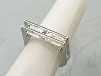 Sliding Stone Ring(Order Production) Silver・CubicZirconiaの画像