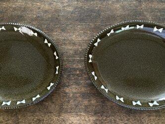 ガーリーオーバル皿greenの画像