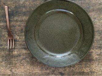 ヘリンボーン皿green(村崎さまご予約品)の画像