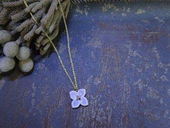 小さな花のnecklace(ラベンダー)の画像