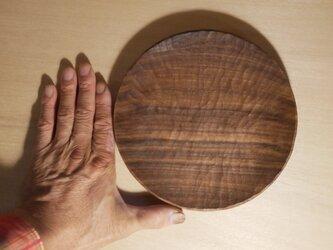 丸皿190 ウォルナット #0244の画像