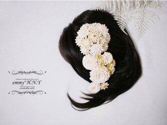 【本金箔使用】tsumamiヘッドドレス BARAtoTEMARI⦅金箔-kinpaku-⦆の画像