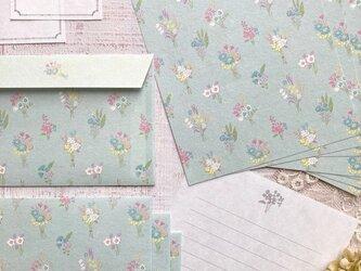 和紙のレターセット【bouquet】の画像
