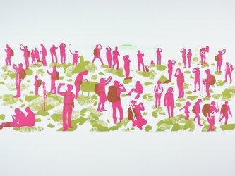 手ぬぐい【 茅ヶ岳山頂 】ピンクの画像