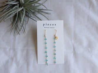 shizuku earrings - aquamarineの画像
