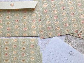 和紙のレターセット【花むぐり】の画像