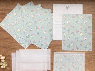 和紙のMiniレターセット【bouquet】の画像