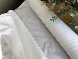 夏マスク * コットン生地 薄手 * 132cm巾1m 840円 * 送料無料 * ホワイトの画像