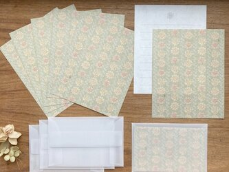 和紙のMiniレターセット【花むぐり】の画像