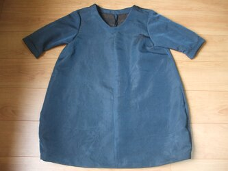 紗の羽織からすそちょっぴりバルーンチュニック 絹の画像