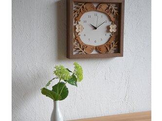 box clock 掛け時計「草かげの鳥」【受注製作品】の画像