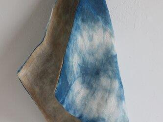 手ふきん(藍+つわぶき)の画像