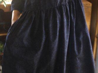 結城紬反物からギャザーワンピースの画像