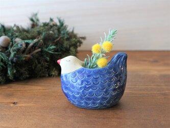 〈再販〉鳥の花入れ (青い鳥)の画像