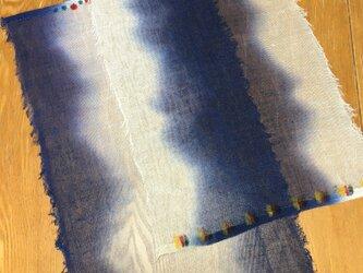 藍染のテーブルセンターの画像
