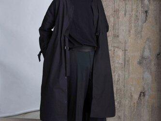 Hole Tuck - Long Shirt - Dark Navy -MENの画像