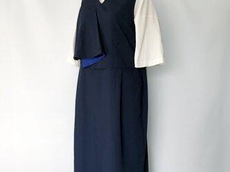Flare Point - Dress - Navyの画像