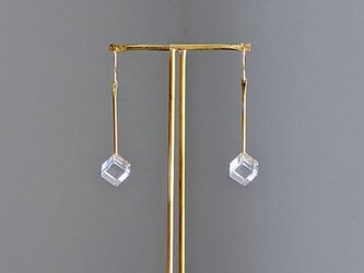 pendulum pierce/earring M【ガラスピアス】【ガラスイヤリング】の画像