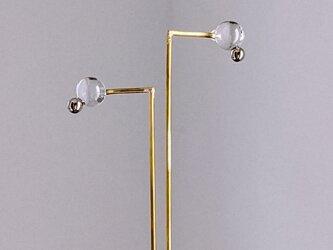 ○。pierce/earring platinum 【ガラスピアス】【ガラスイヤリング】の画像