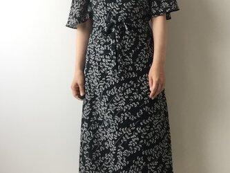 着物リメイク 絽のカシュクールワンピース 萩の画像