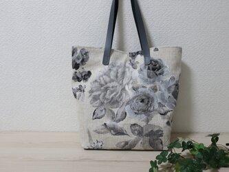 フランス花柄リネンGトートバックの画像