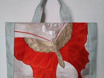 蝶の帯地かばんの画像