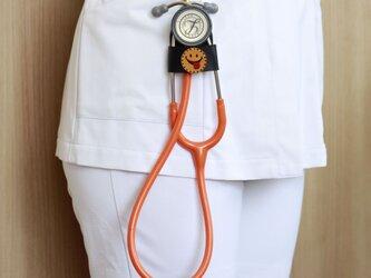 聴診器 ホルダー(SMILE スマイリー・ブラック)の画像